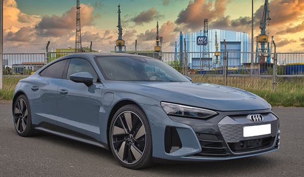 Audi E-Tron GT mit originalen Audi Felgen