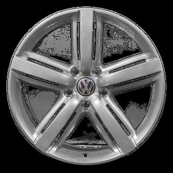 Original VW 20 Zoll Alufelge Touareg 7P Metropolitan Felge Hochglanzverdichtet – Bild 2