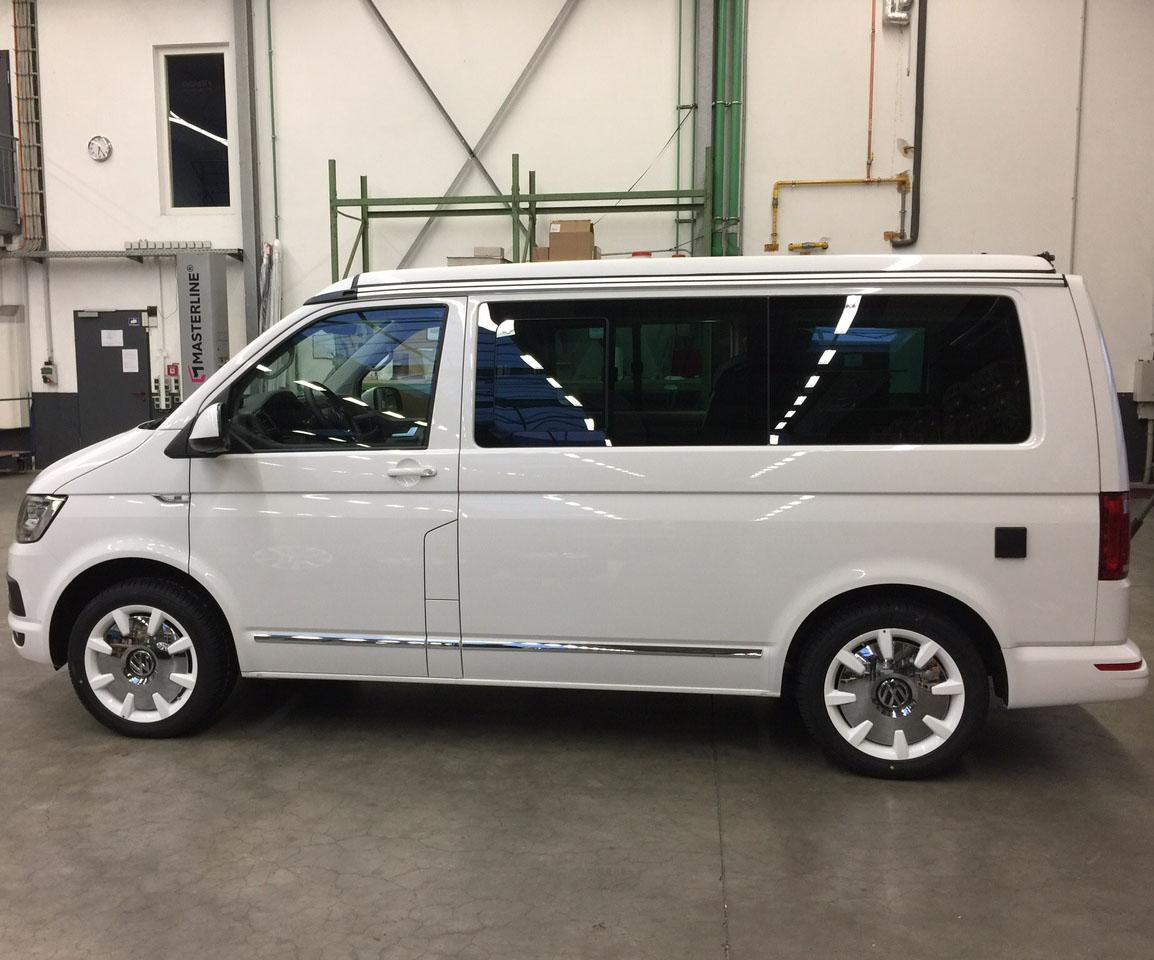 VW 18 Zoll Alufelgen T5 T6 Bus Multivan Bulli Caravelle Disc Felgen weiß NEU