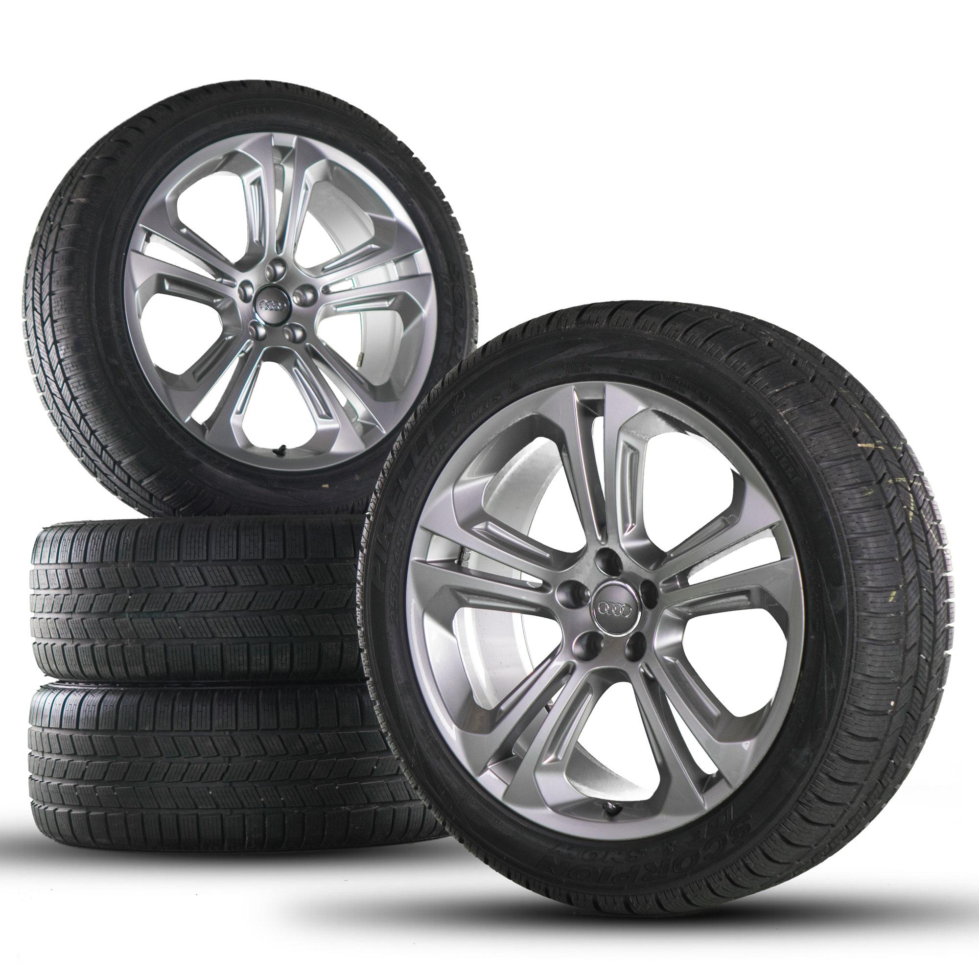 audi q5 sq5 8r jantes en alliage 20 pouces pneus d 39 hiver roues s line ebay. Black Bedroom Furniture Sets. Home Design Ideas