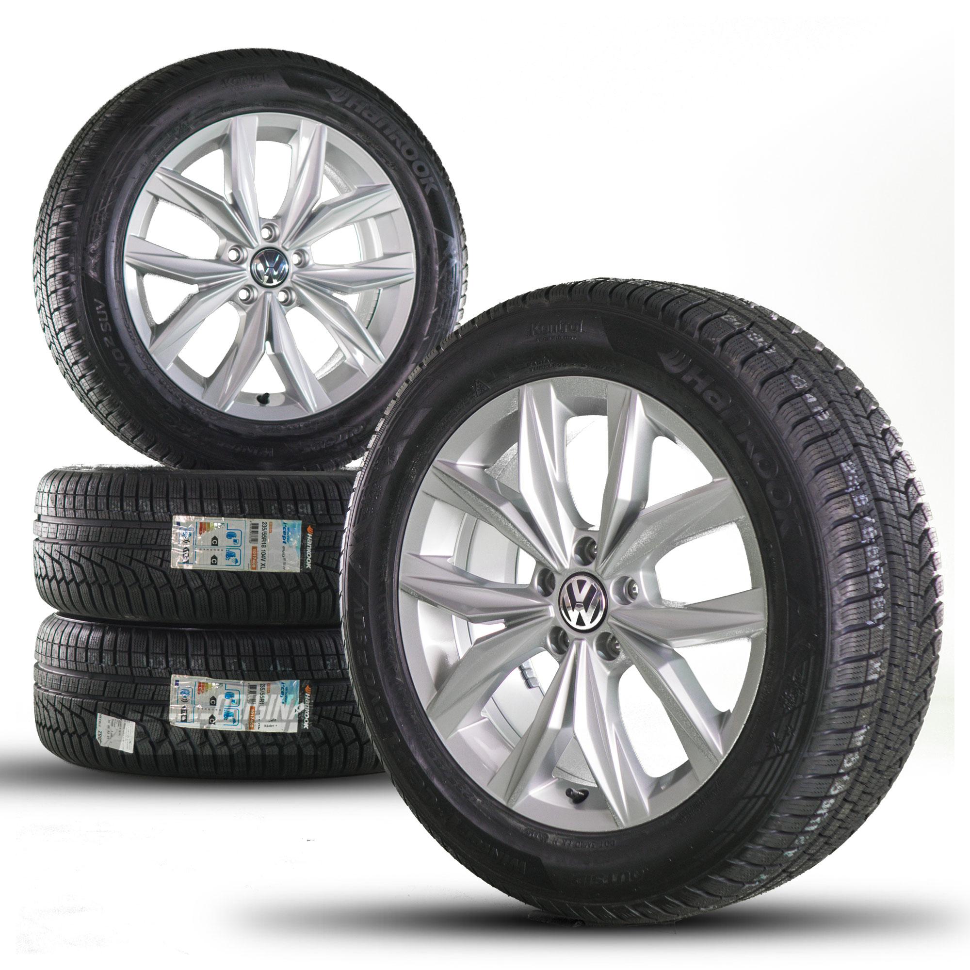 vw 18 zoll jantes tiguan 2 5na en alliage kingston les pneus d 39 hiver roues neuf. Black Bedroom Furniture Sets. Home Design Ideas