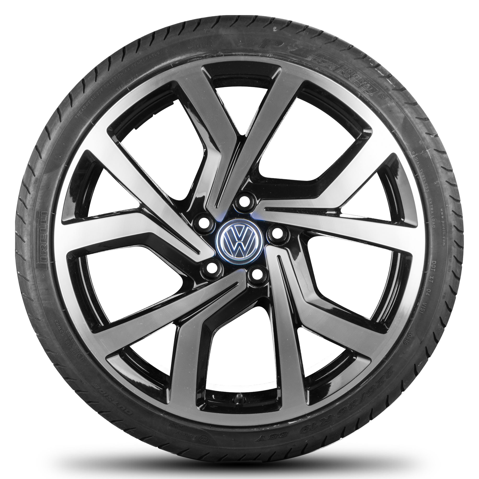 vw golf 5 6 7 gti gtd 19 zoll alloy wheel normal tyre r line brescia ebay. Black Bedroom Furniture Sets. Home Design Ideas