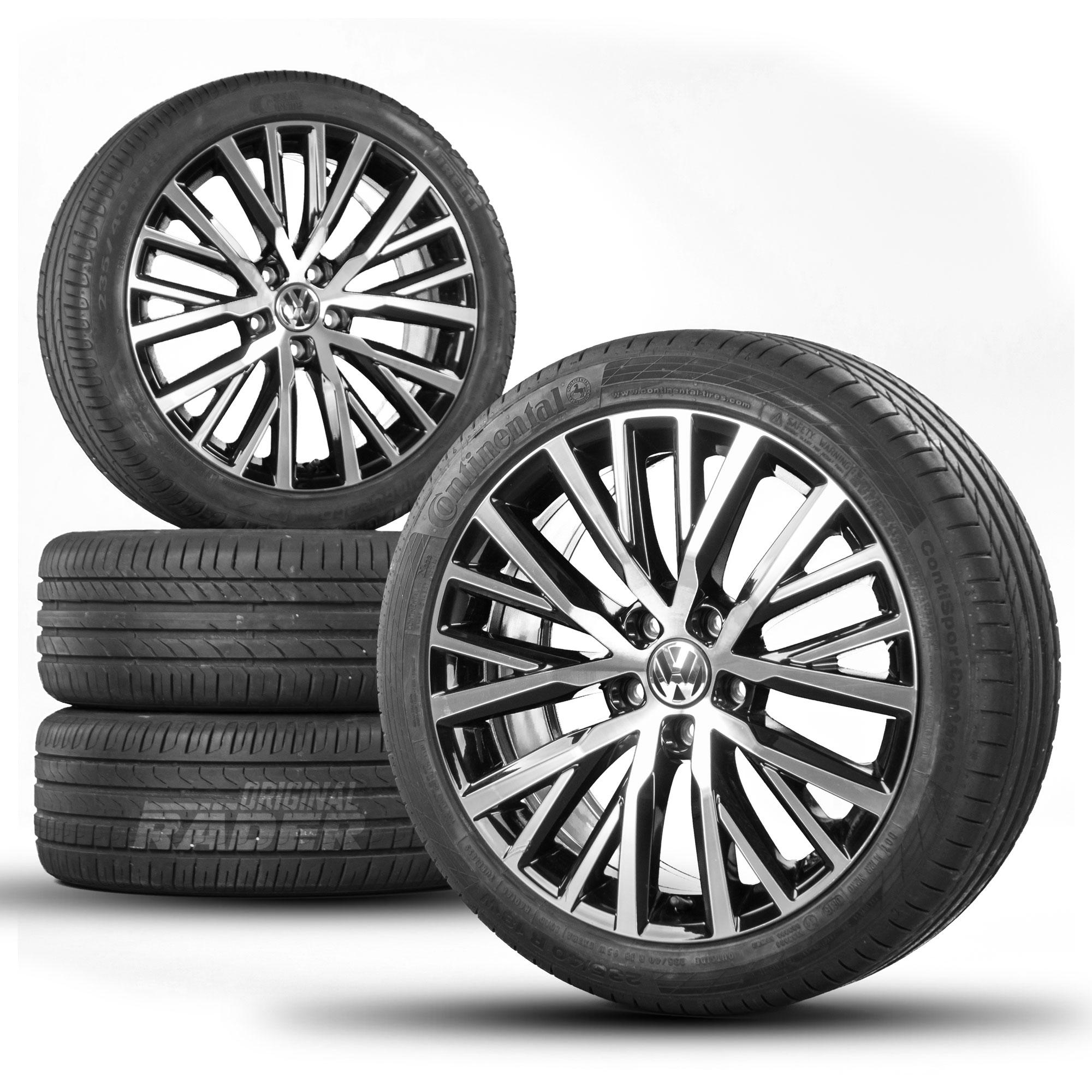 vw passat 3c cc scirocco 18 inch alloy wheels rims summer tires r line ebay. Black Bedroom Furniture Sets. Home Design Ideas