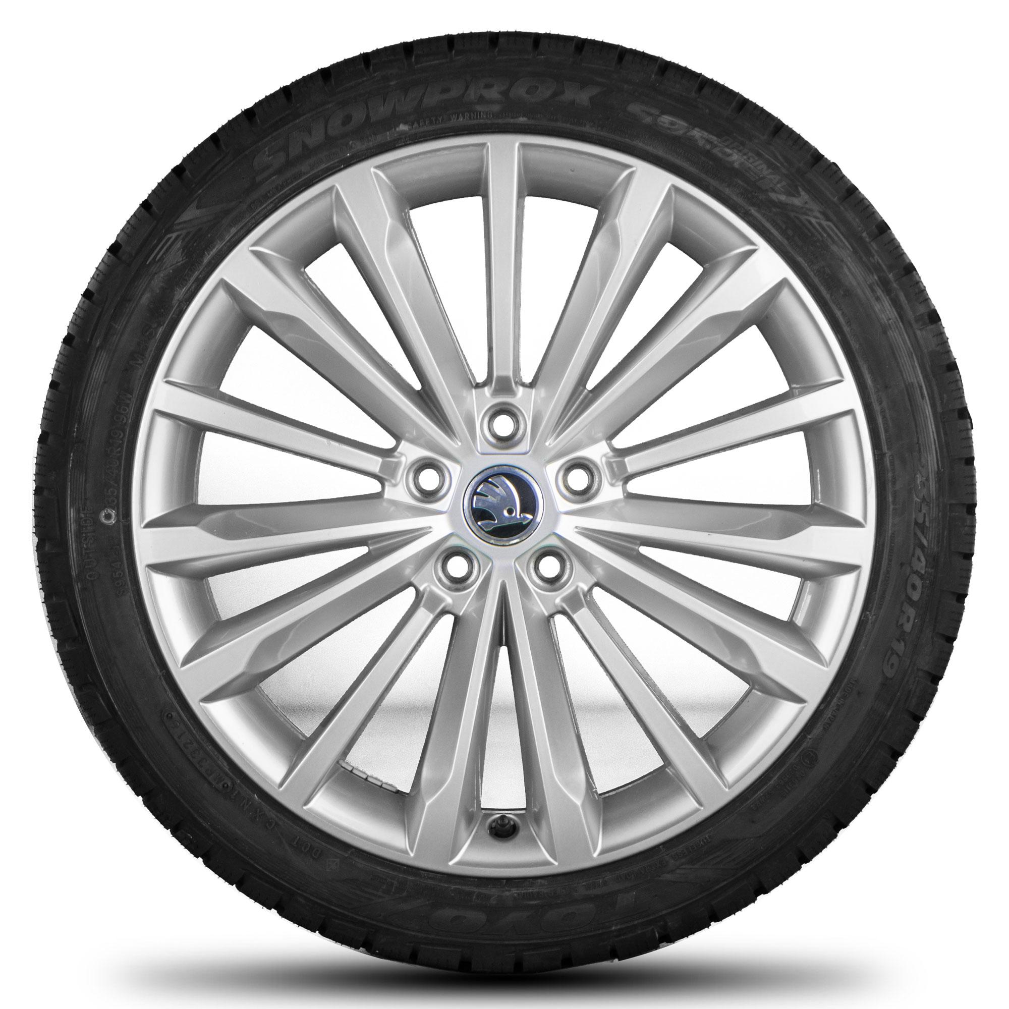 skoda 19 inch rims superb 3v phoenix alloy wheels winter. Black Bedroom Furniture Sets. Home Design Ideas