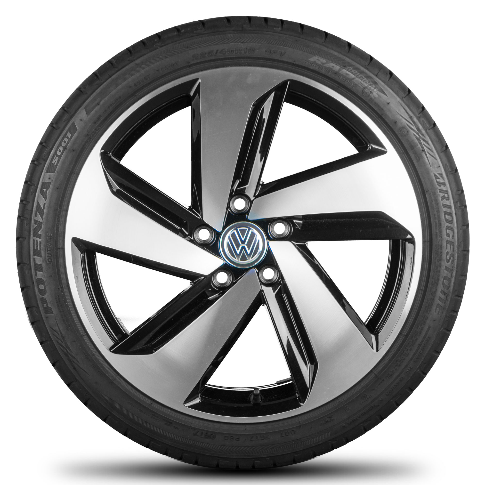 vw 18 inch rims golf 7 gti gtd clubsport alloy wheels