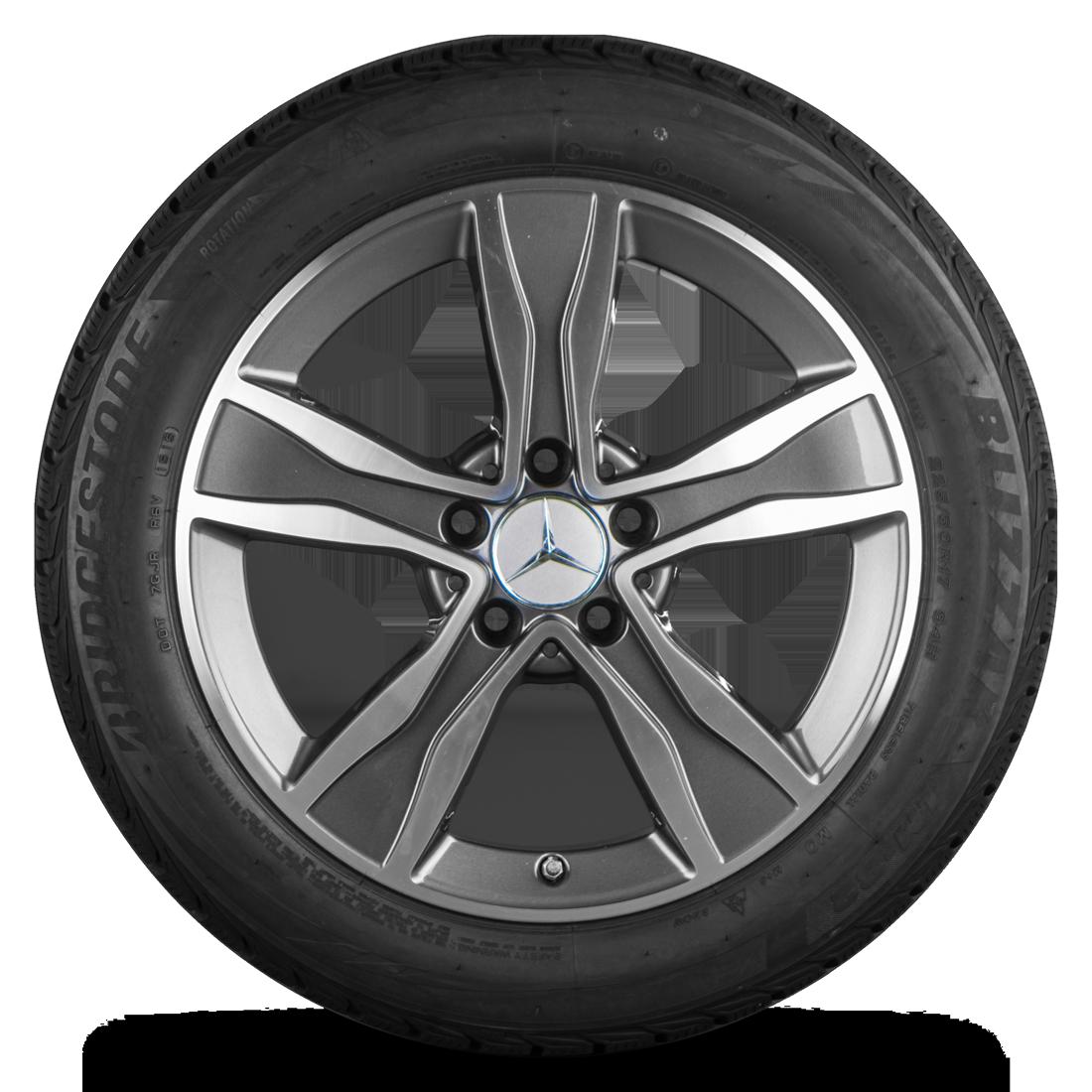 Mercedes 17 Zoll Felgen C-Klasse W205 A205 C205 S205 MO Winterreifen Winterräder