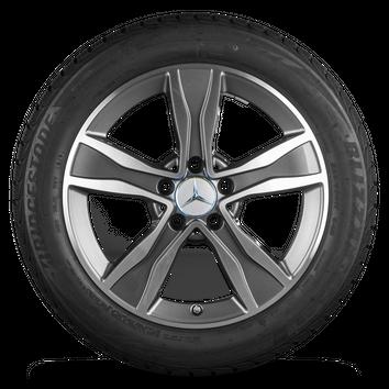 Mercedes 17 Zoll Felgen C-Klasse W205 A205 C205 S205 MO Winterreifen Winterräder – Bild 2