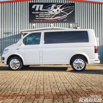 VW 18 Zoll T5 T6 Bus Multivan Disc Retro Felgen Alufelgen Sommerreifen Weiß NEU – Bild 7