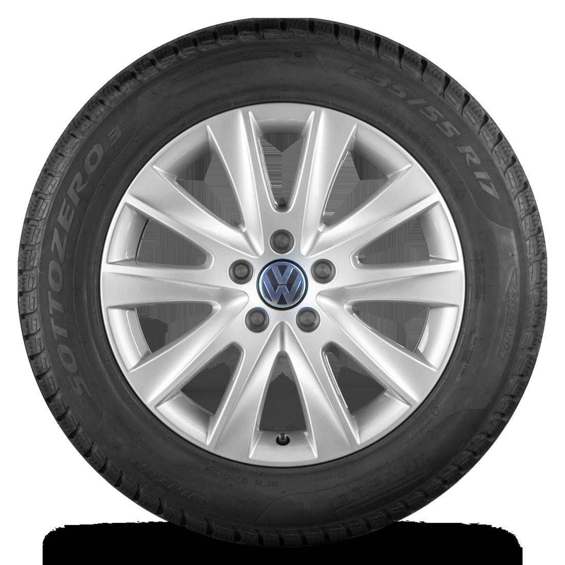 VW 17 Zoll Felgen Tiguan 5N Los Angeles Alufelgen Winterreifen Winterräder