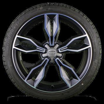 Original Audi 18 Zoll Alufelgen A1 S1 8X Felgen Sommerreifen Sommerräder 7,5 mm – Bild 3