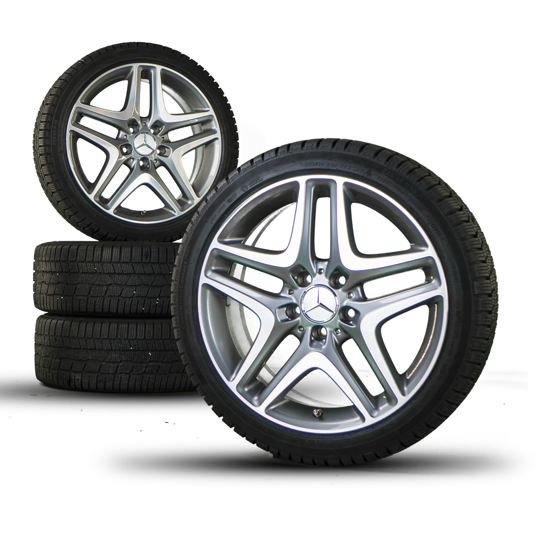 Mercedes benz 18 inch rims slk slc r172 alloy wheels winter for Mercedes benz tyres