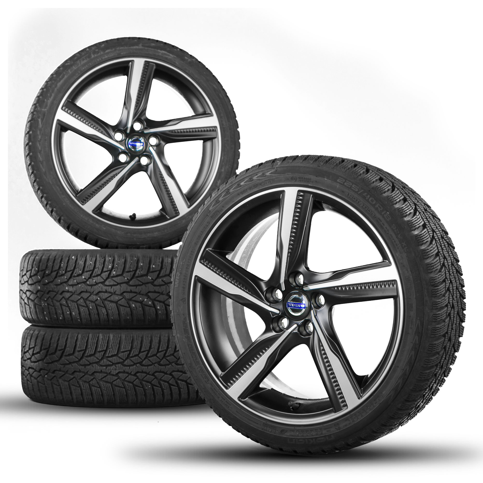 Volvo S60: Storing wheels and tires
