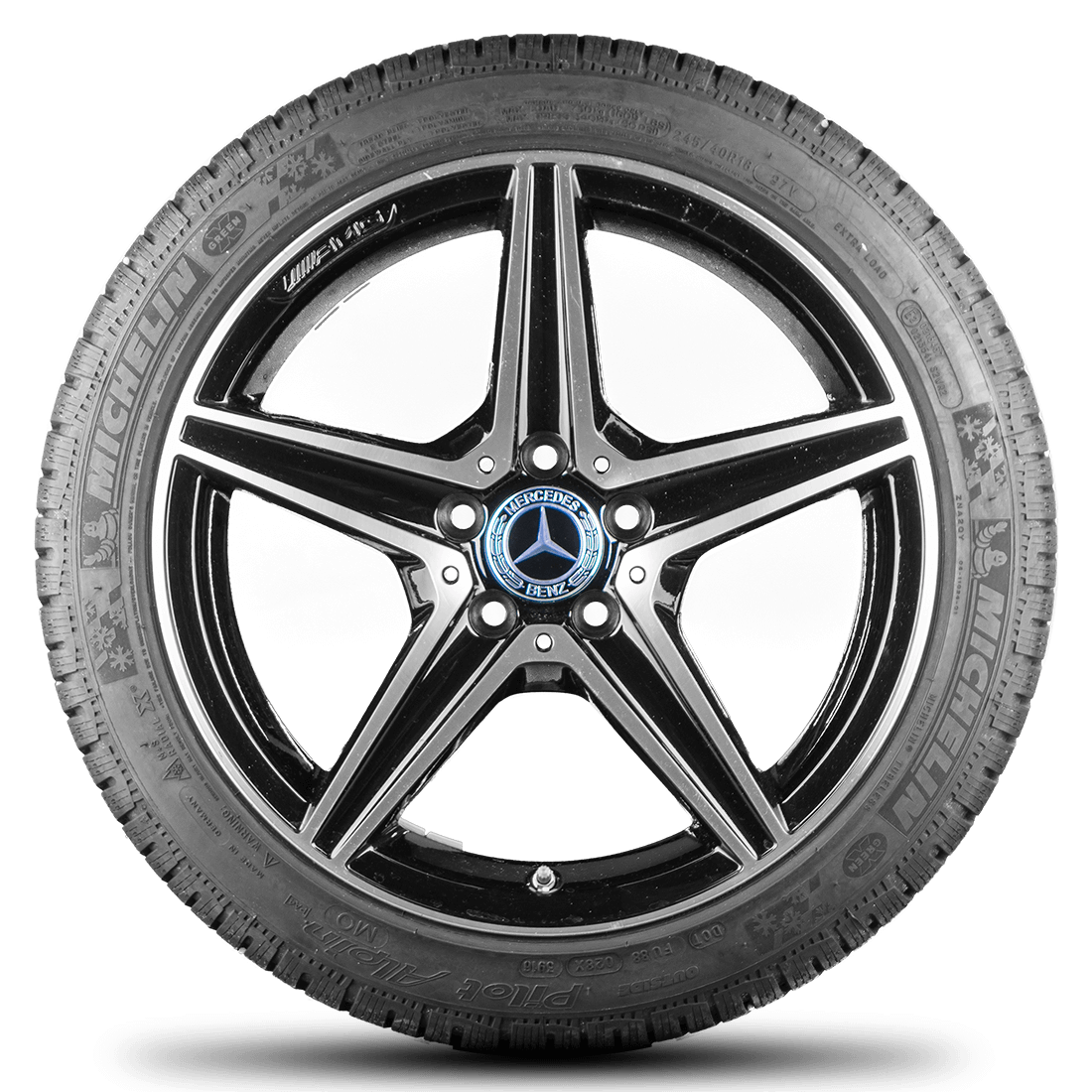 Mercedes benz c43 amg c450 amg w205 18 inch alloy wheels for Mercedes benz tyres