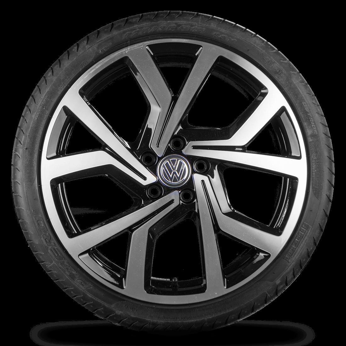 VW Golf 6 7 GTI GTD 19 Zoll Alufelgen Felgen Sommerreifen R line Brescia