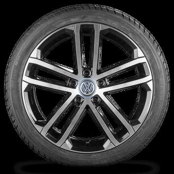 VW Golf 5 6 7 VI VII 18 Zoll Felgen R line GTI Alufelgen Sommerreifen Nogaro – Bild 2