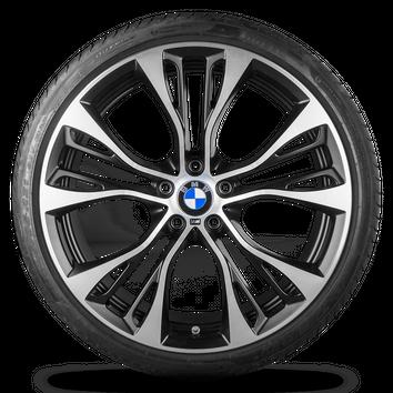 BMW X3 F25 X4 F26 21 Zoll Alufelgen Felgen Sommerreifen Styling 6861374 M599 – Bild 3