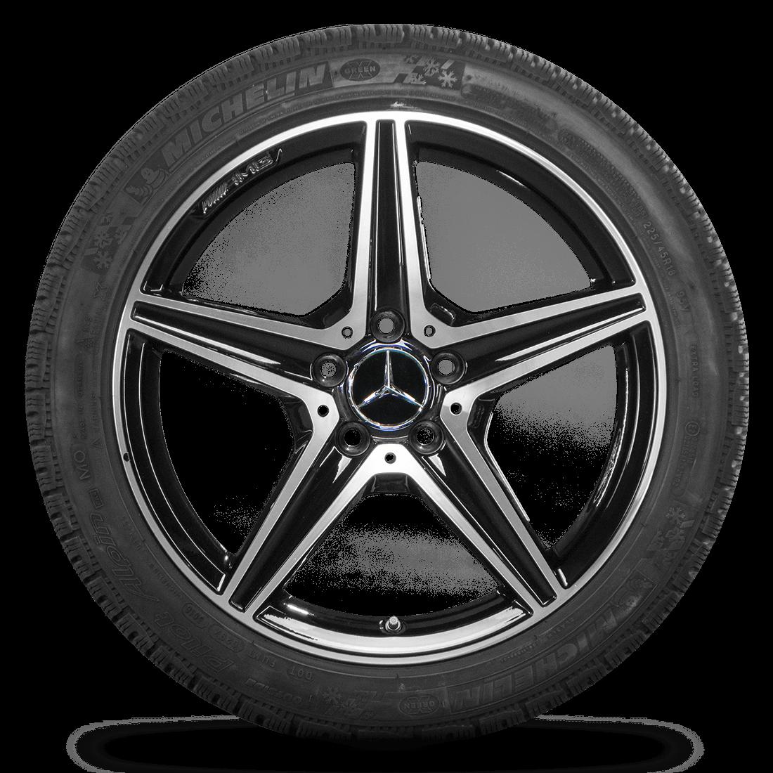 18 Zoll Mercedes C450 Sport C43 AMG Felgen Winterreifen Winterräder 6 mm