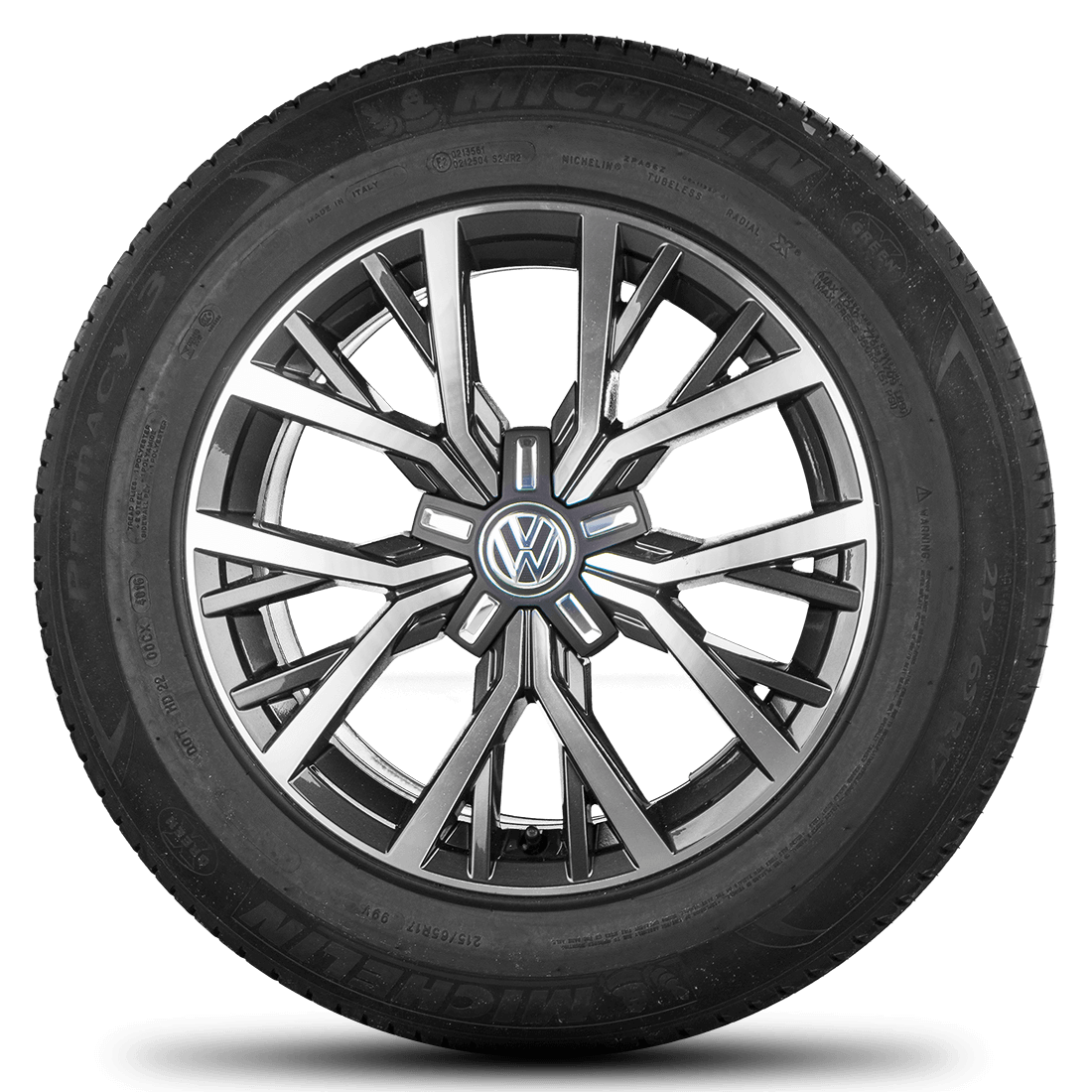 VW Tiguan 2 II 5NA 17 inch summer tires alloy wheels rim R line