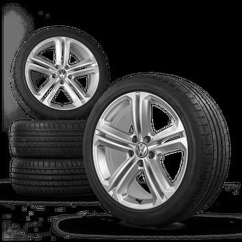 VW 18 Zoll Felgen Scirocco Passat CC Mallory Alufelgen Sommerreifen Sommerräder – Bild 3