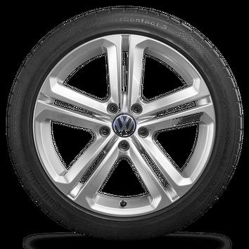 VW 18 Zoll Felgen Scirocco Passat CC Mallory Alufelgen Sommerreifen Sommerräder – Bild 2