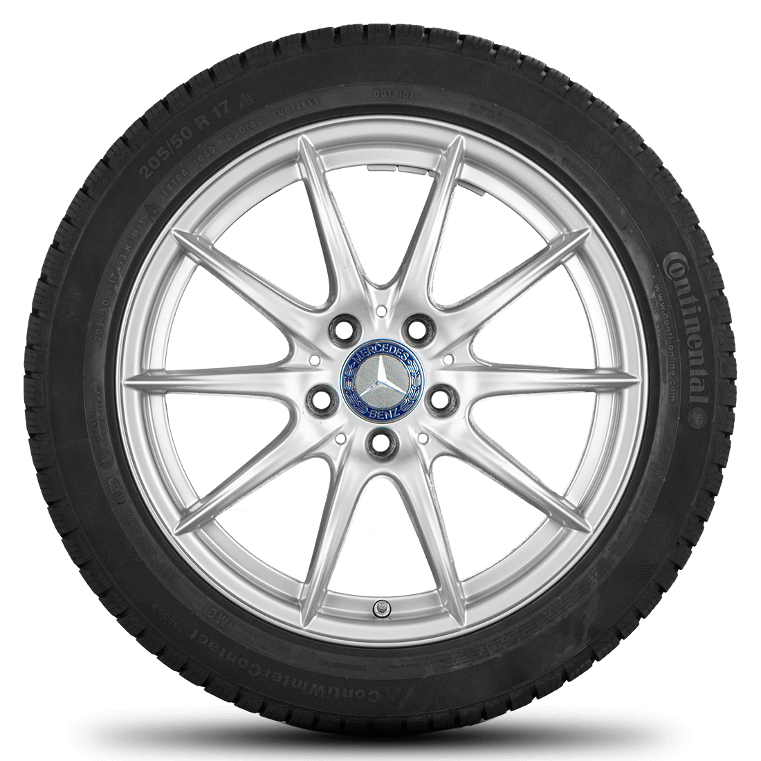 Mercedes 17 Zoll A B CLA Klasse W176 W246 C117 Felgen Winterreifen Winterräder
