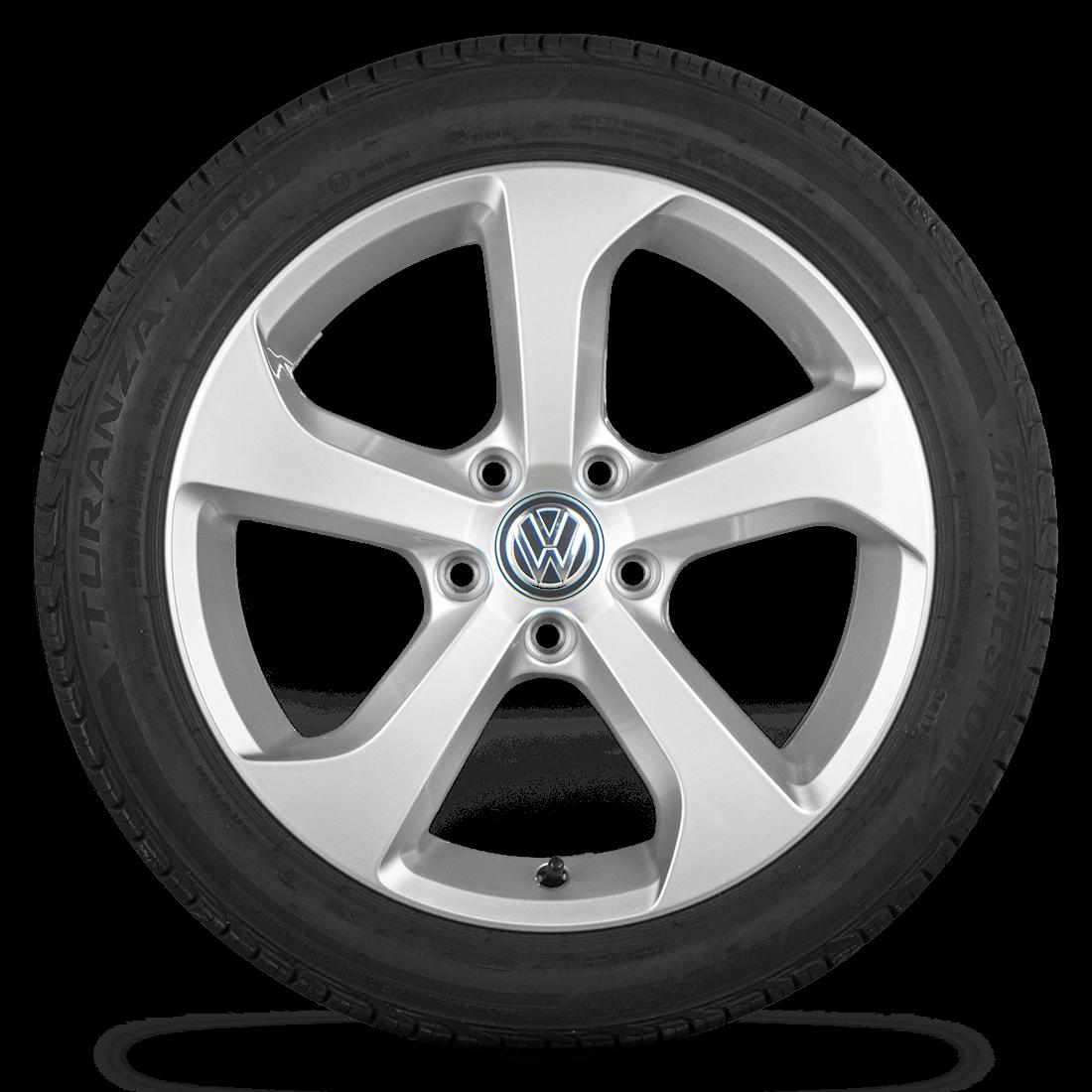 VW Golf 7 VII GTI GTD 17 Zoll Felgen Alufelgen Sommerreifen R line Brooklyn
