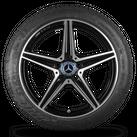 AMG Mercedes C43 C450 Sport W205 18 inch alloy wheels winter tyres winter