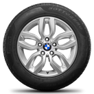 BMW X3 F25 X4 F26 17 inch rim alloy wheels winter wheels winter tyres Styling