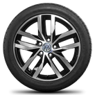 VW 17 Zoll Alufelgen Golf 5 6 7 Felgen Sommerreifen Sommerräder Madrid GTI GTD