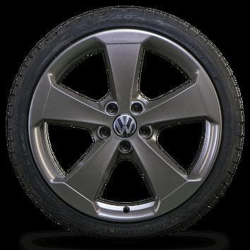 VW 19 Zoll Felgen Golf 5 6 7 GTI Glendale Alufelgen Winterreifen Winterräder NEU – Bild 3