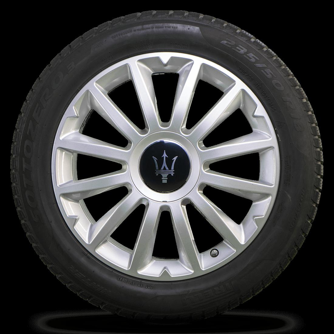 Maserati 18 Zoll Felgen Ghibli M157 Alfieri Design Winterreifen Winterräder 6 mm
