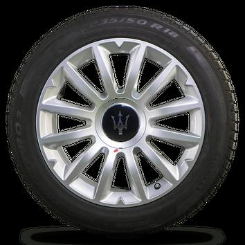Maserati 18 Zoll Felgen Ghibli M157 Alfieri Design Winterreifen Winterräder 6 mm – Bild 4