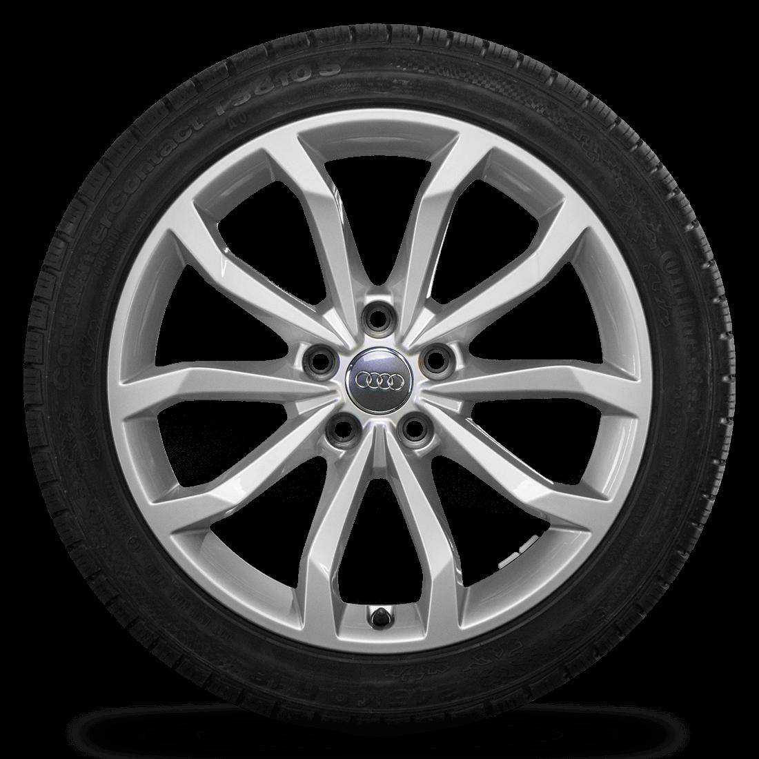 Audi 18 Zoll Winterräder Alufelgen A4 S4 8W B9 Felgen Conti Winterreifen 8 mm
