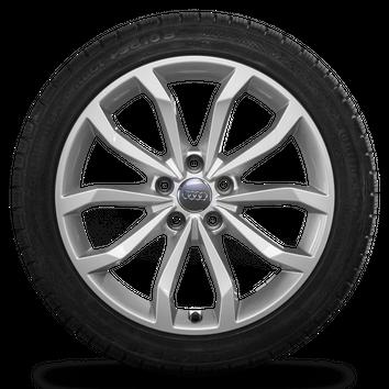 Audi 18 Zoll Winterräder Alufelgen A4 S4 8W B9 Felgen Conti Winterreifen 8 mm – Bild 2
