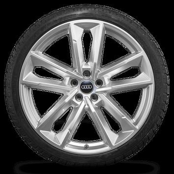 Audi 21 Zoll Felgen A7 S7 RS7 4G Alufelgen S line Winterreifen Winterräder 7 mm – Bild 3