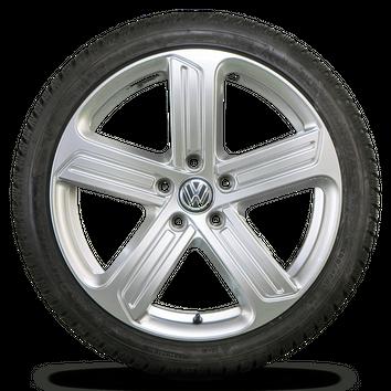 VW 18 Zoll Felgen Golf 7 6 GTI GTD Cadiz Alufelgen Winterreifen Winterräder 8 mm – Bild 3