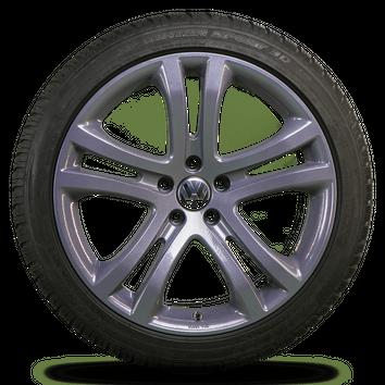 VW 19 Zoll Felgen Tiguan 5N Alufelgen Winterreifen Winterräder Savannah 6 mm – Bild 3