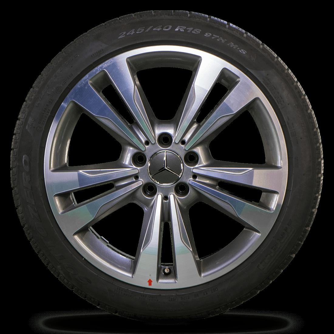 Mercedes 18 Zoll Felgen E-Klasse W212 S212 Alufelgen Winterreifen Winterräder