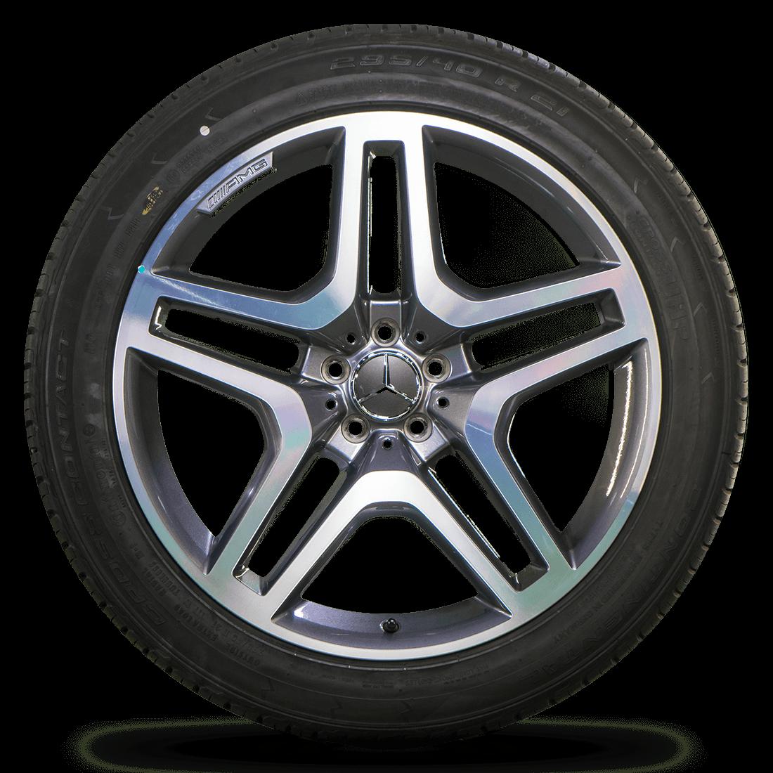 Original AMG 21 Zoll Felgen Mercedes GL GLS SUV W166 X166 Alufelgen Sommerreifen