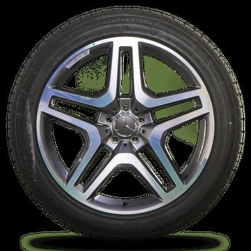 Original AMG 21 Zoll Felgen Mercedes GL GLS SUV W166 X166 Alufelgen Sommerreifen – Bild 5