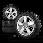Original 18 Zoll Alufelgen Winterreifen Audi A6 4G Winterräder 4G0601025M Felgen