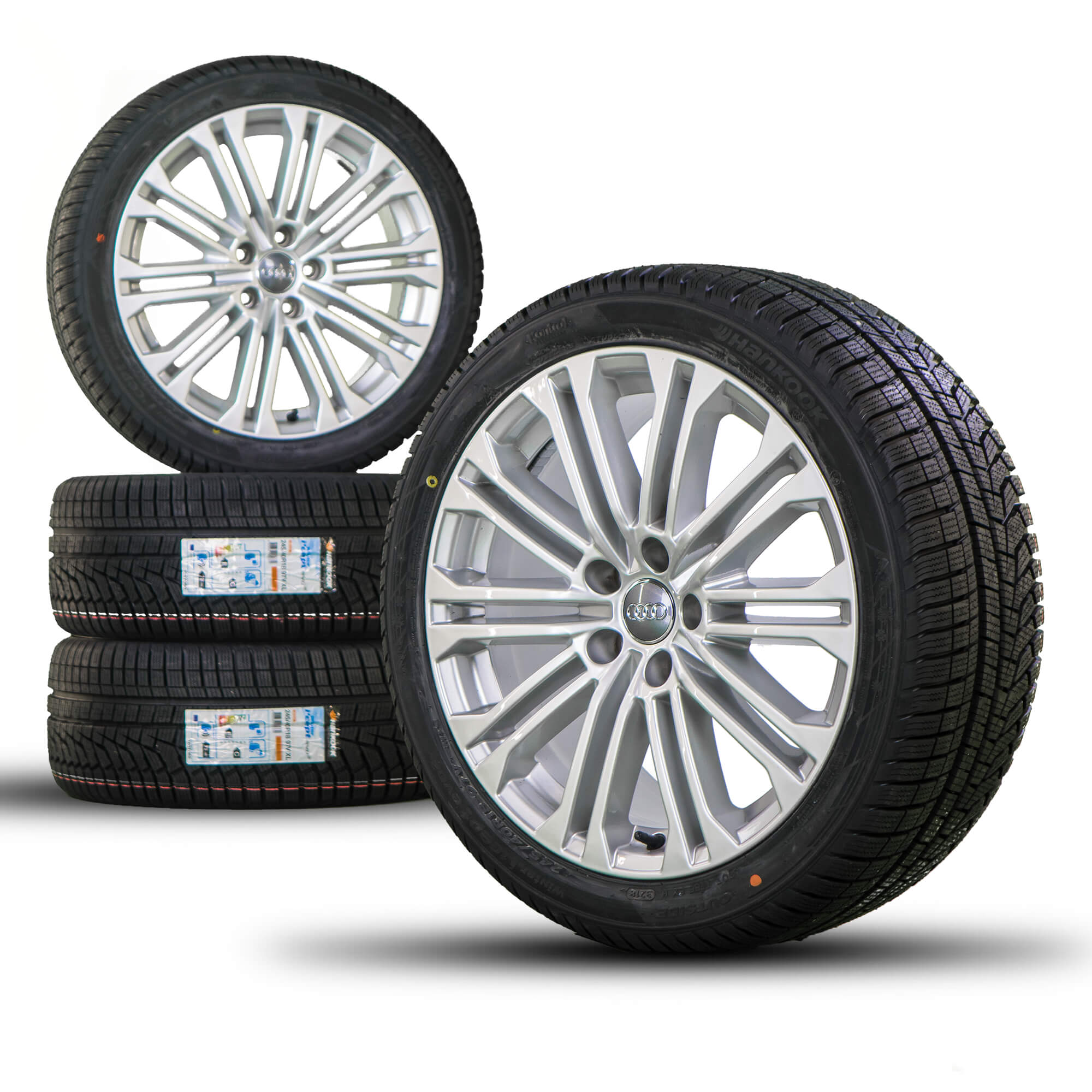 18 Inch Rims And Tires >> Details About Audi 18 Inch Rims A5 S5 8w Aluminum Rims Winter Tires New Winter Wheels