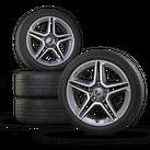 AMG 18 Zoll Felgen Mercedes C-Klasse W205 S205 Facelift Sommerreifen Sommerräder