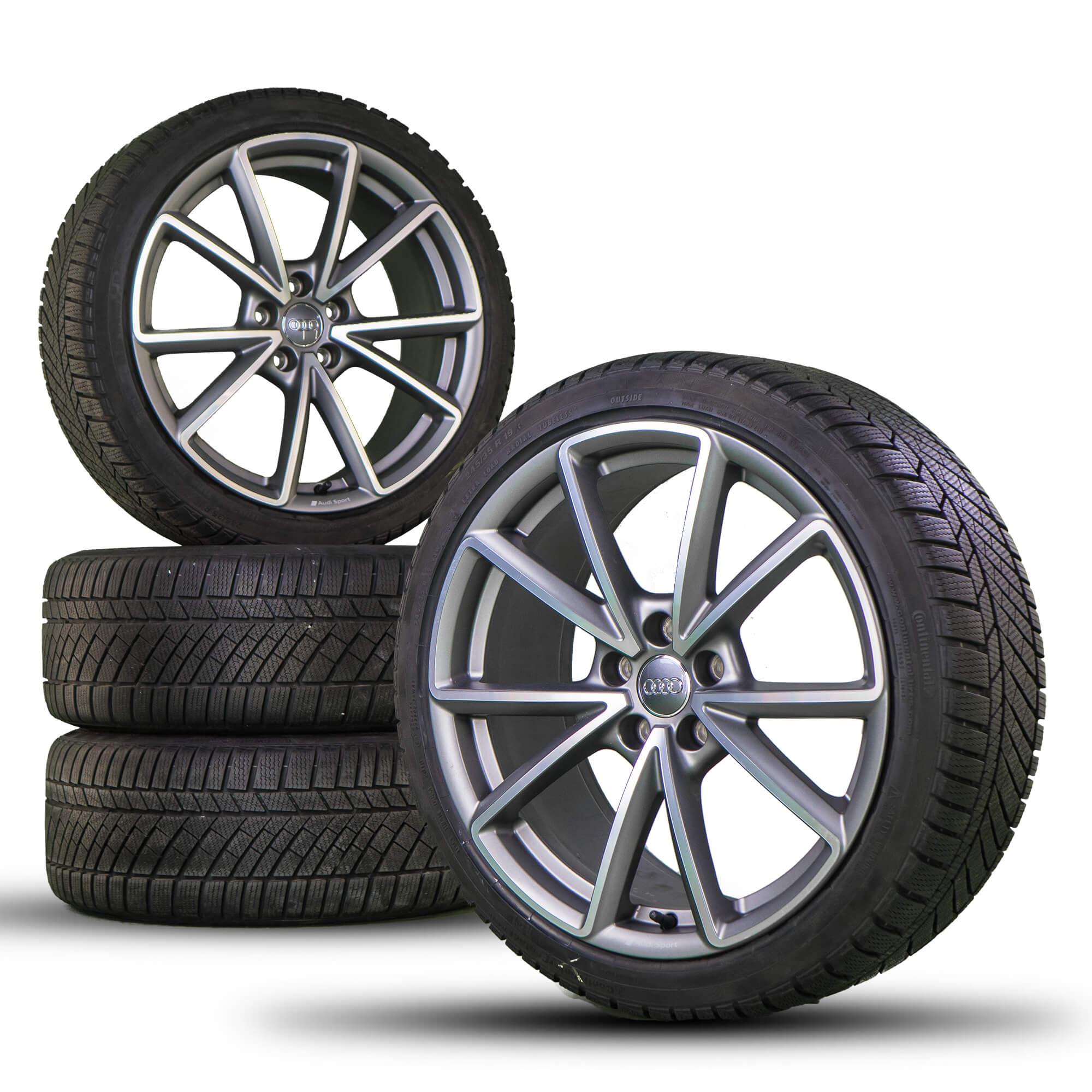 Audi A4 S4 8W 19 Inch Aluminum Rim Rims Winter Tires