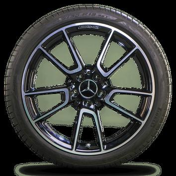 AMG 19 Zoll Mercedes Felgen C-Klasse W205 Alufelgen Sommerreifen Sommerräder – Bild 2
