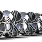 4x Audi 21 Zoll Felgen A7 S7 4K C8 A6 S6 4G Alufelgen 4K8601025AA Y-Speiche NEU