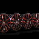 4x Volkswagen 17 Inch Rims Caddy 2K Alloy Rims Black Candy Red 2K5601025K