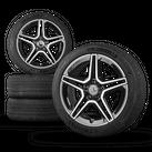 AMG 18 inch rims Mercedes AB class W177 W247 aluminum rims summer tires 7 mm