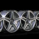 4x AMG 19 Zoll Felgen Mercedes Benz GLA X156 W156 Alufelgen A1564012400 NEU