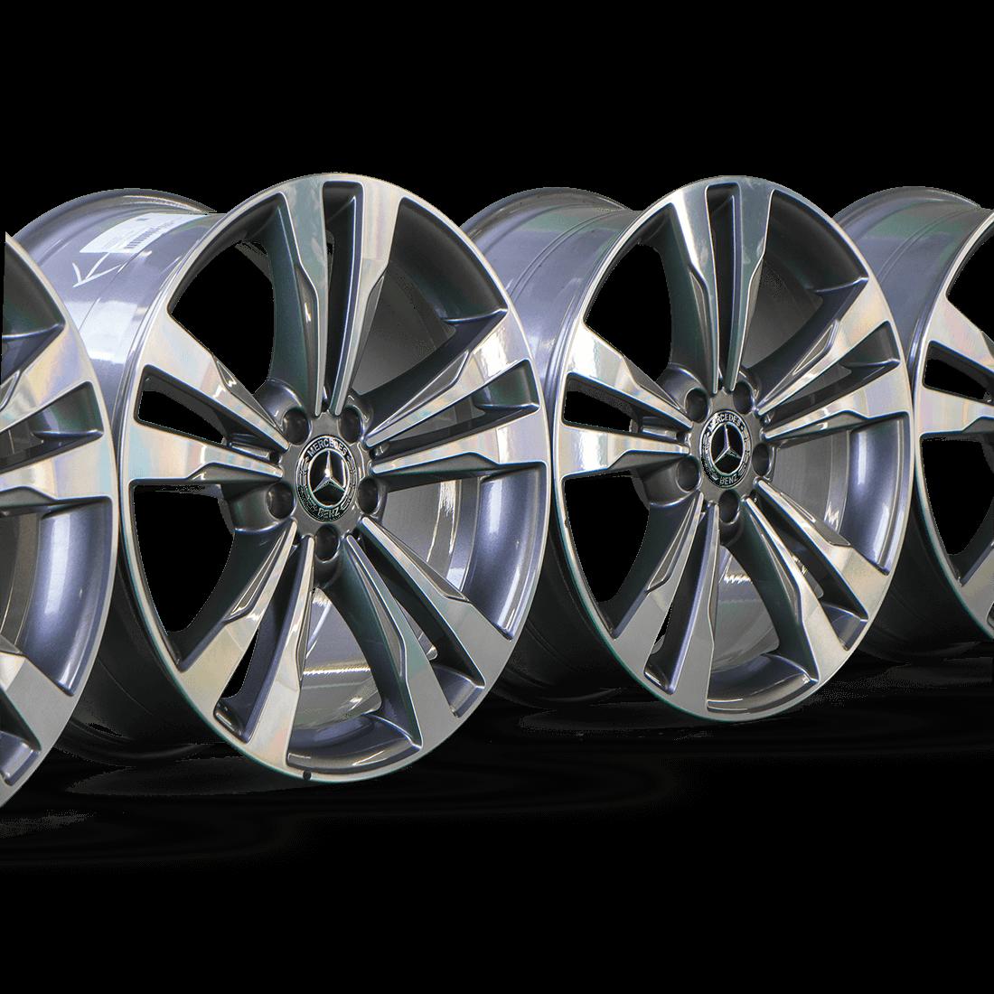 Mercedes 19 inch rims S-Class W222 W217 A2224011302 A2224011402 Aluminum rims